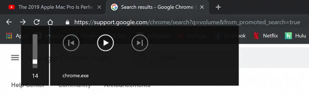 Google Chromeの迷惑なchrome.exeボリュームポップアップ