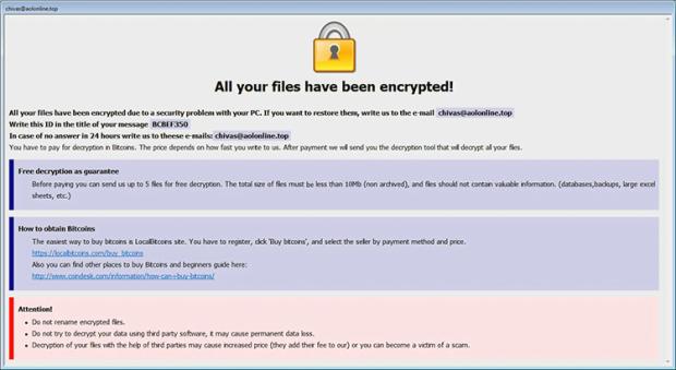 Arena ransomwareによる Info.hta身代金