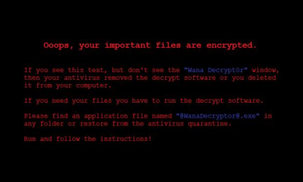 WannaCryデスクトップの背景