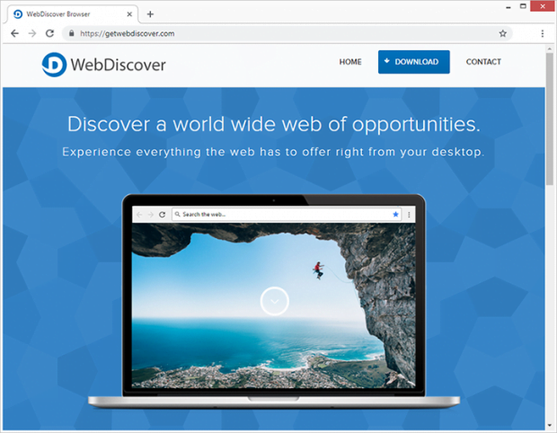 WebDiscoverブラウザの発行元は、このアプリを最も優れていると説明しています
