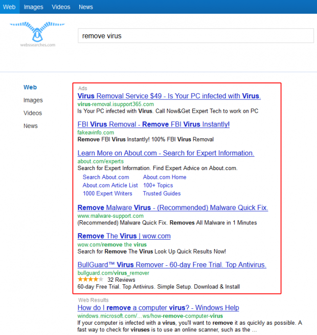 Webssearches Ads